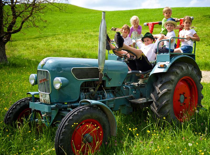 Starennest Traktor fahren